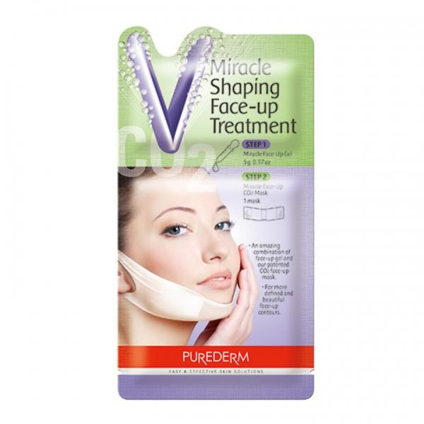 Корректирующая лифтинг-маска для овала лица с СО2 Purederm, 1шт.
