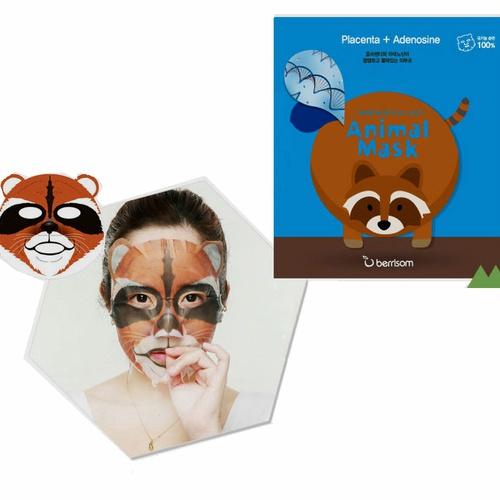 Berrisom Animal Mask Series - Raccoon (Placenta+Adenosine)