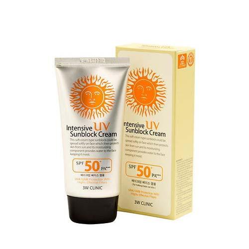 Солнцезащитный крем SPF50 PA+++ 3W CLINIC, 70мл