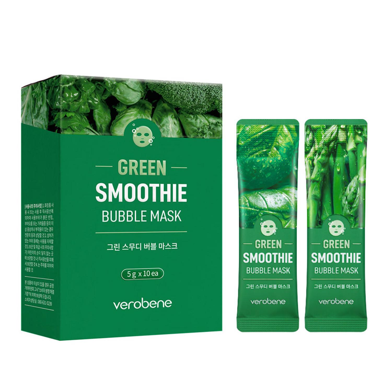 Кислородная маска смузи с зеленым коктейлем Verobene, 1стик
