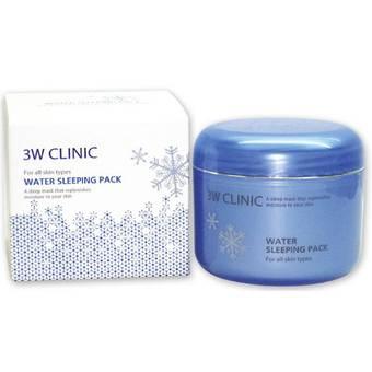 Увлажняющая ночная маска для лица с гиалуроновой кислотой 3W Clinic, 100мл