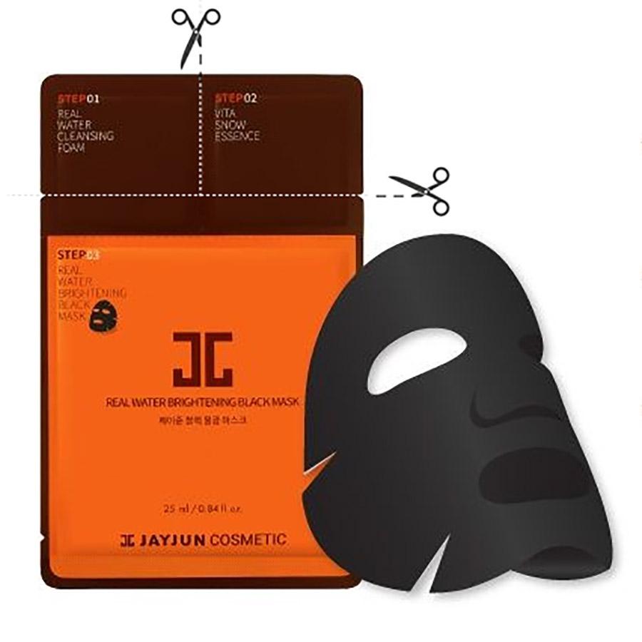 JAYJUN Real Water Brightening Black Mask 3 Step